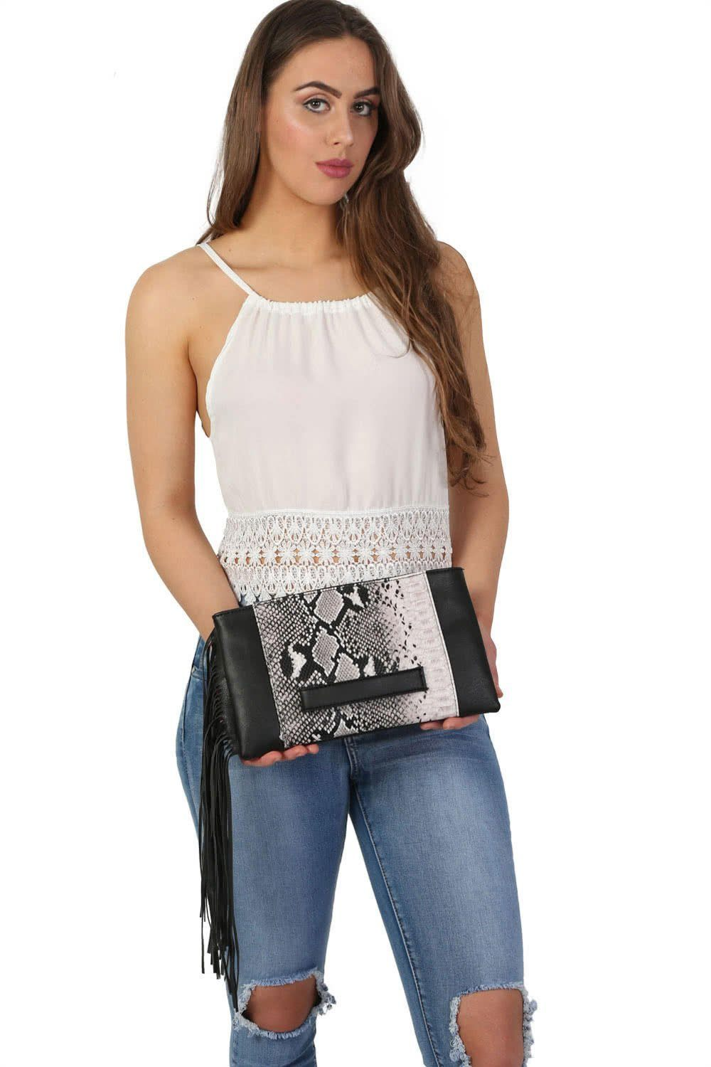 Tassel Clutch Bag in Brown 0