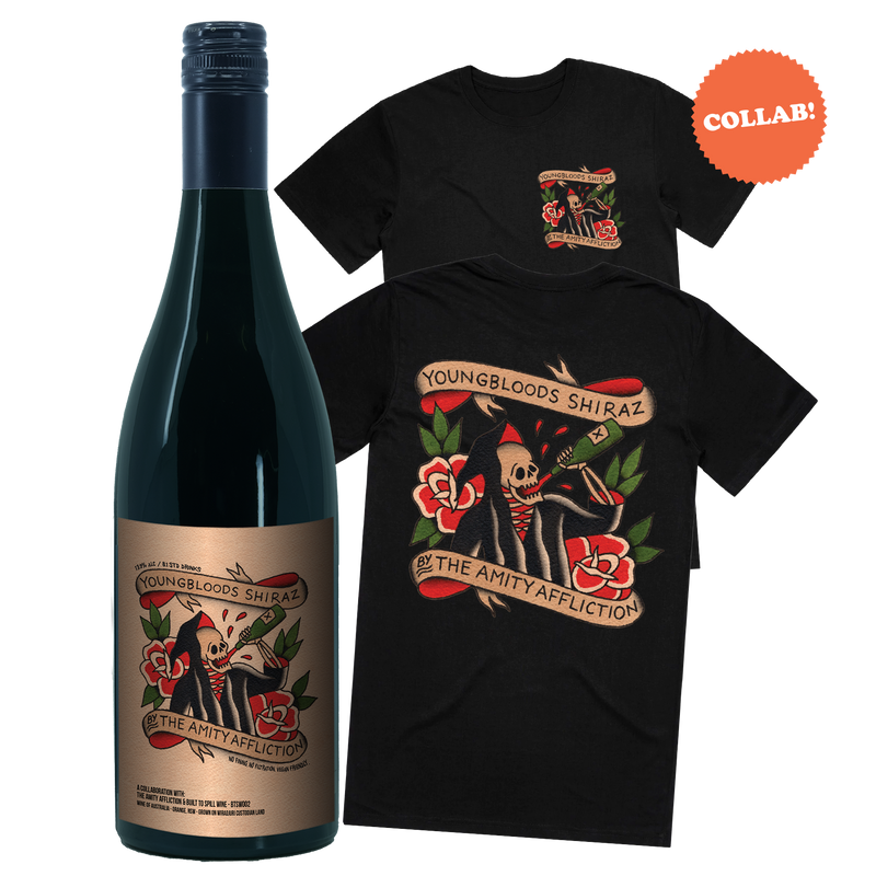 The Amity Affliction Youngbloods Shiraz Flash Label by Ahren Stringer T-Shirt Bundle