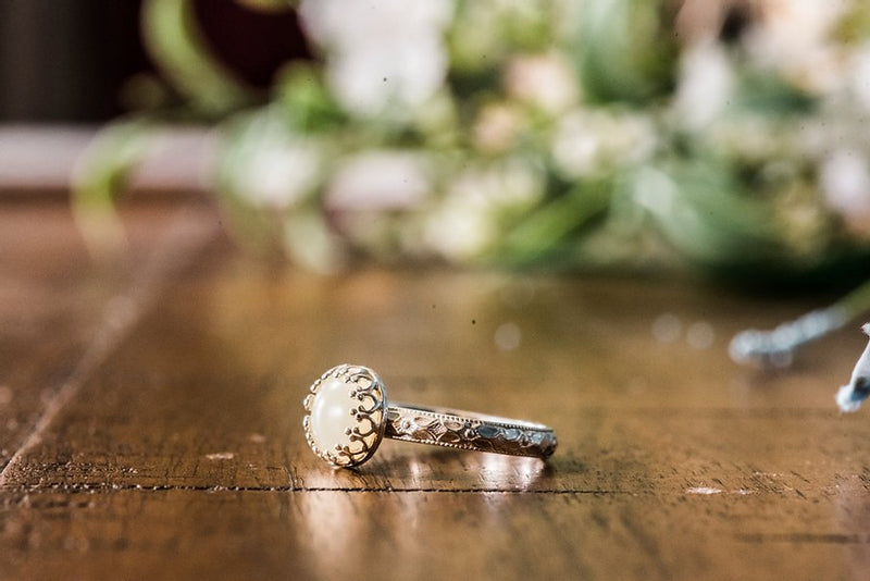 8mm Floral Elegance Ring