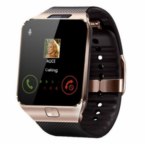 SQUARE SMARTWATCH WITH SIM AND 32 GB MEMORY CARD SLOT AND FITNESS TRACKER - Shoppie Shop