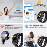 Smartwatch with SIM and 32 GB Memory Card Slot and Fitness Tracker (Black Strap, Free Size) - Shoppie Shop