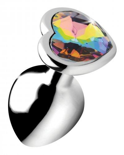 Rainbow Heart Buttplug - Middel
