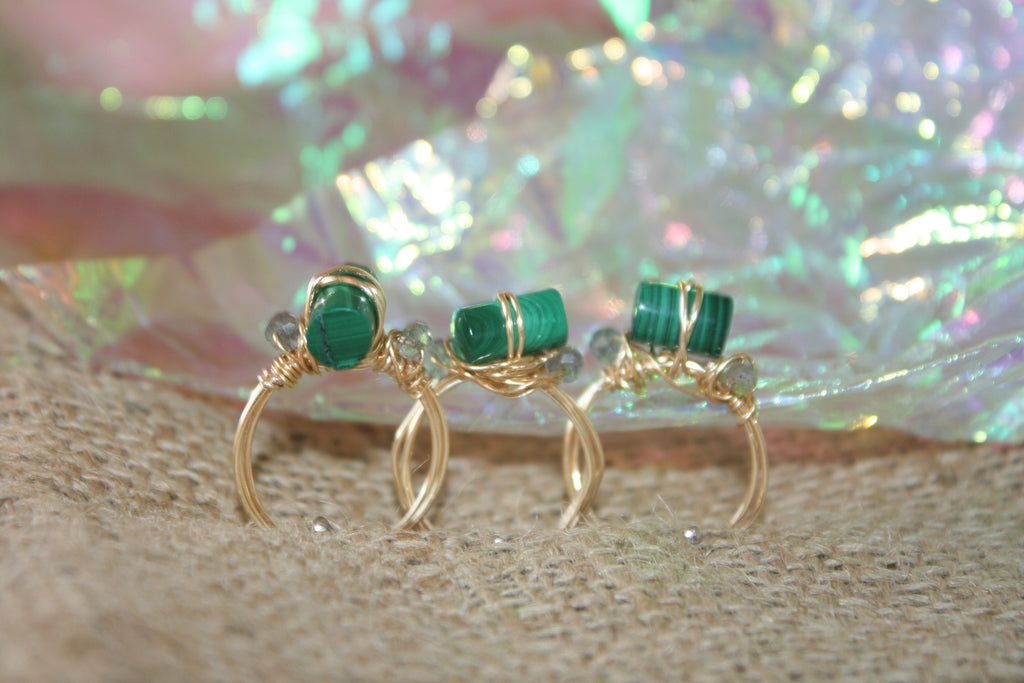 EASY STREET - MALACHITE & LABRADORITE RING