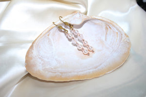 Earrings with Heart Shaped Rose Quartz