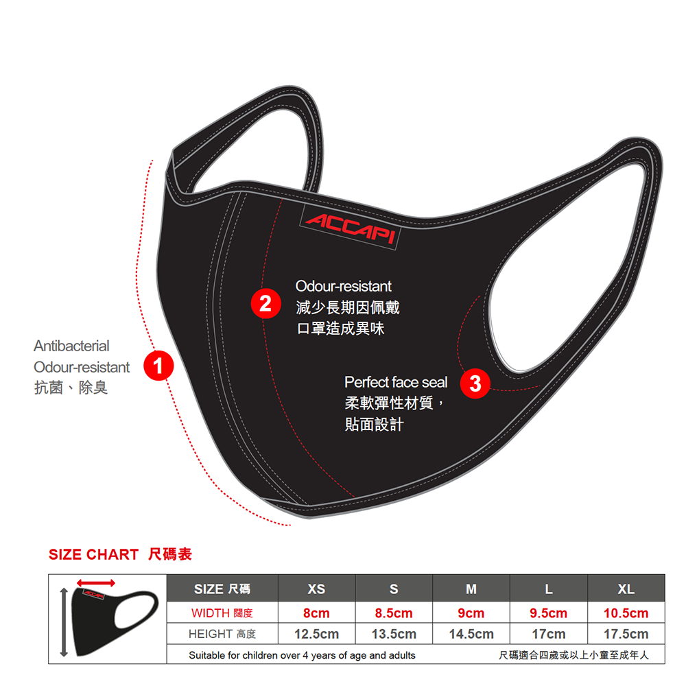 遠紅外線能量口罩 (2-PLY) Far-Infrared Energy Mask - 黃色 (Yellow)