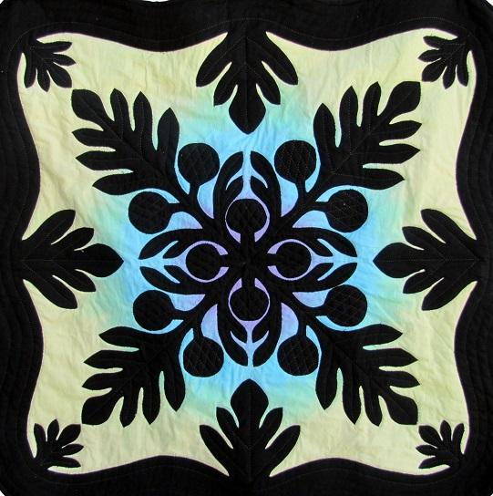"Aloha Quilt Design Hawaiian Breadfruit Quilt 90"" x 90"""