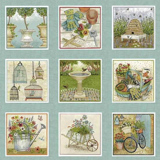 Andover Fabrics Antique Garden Panel