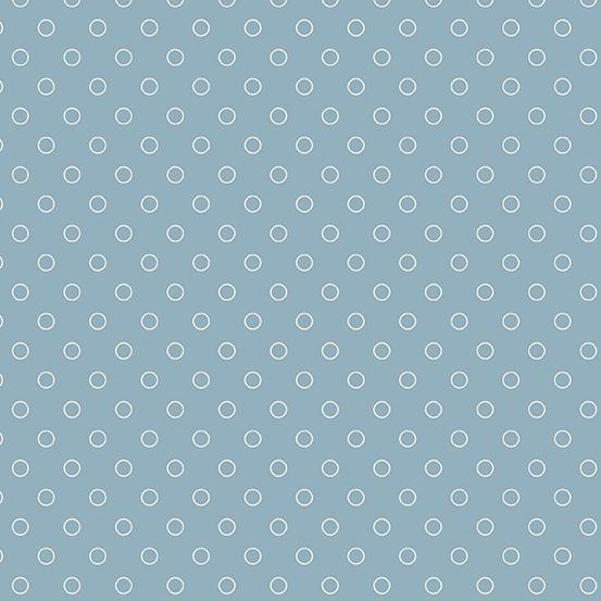 Andover Fabrics Blue Sky Bubbles Baltic Blue