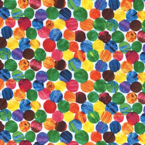 Andover Fabrics  Very Hungry Caterpillar Dots