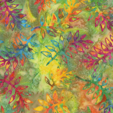 Anthology Fabrics Leaves - Multi Colors