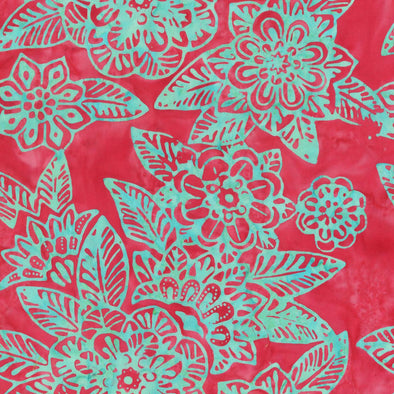 Anthology Fabrics Tattoo Floral - Magenta