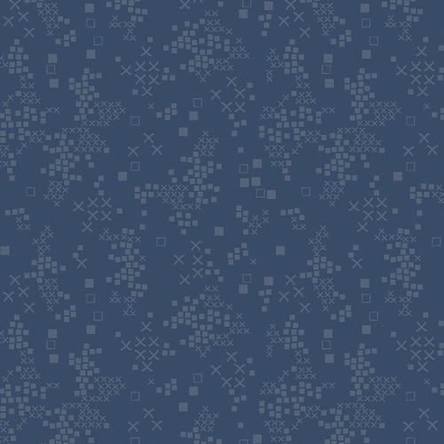 Art Gallery Fabrics Tallinn Sofia Midnight Blue