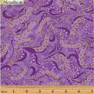Benartex - Holey Scrolls Purple