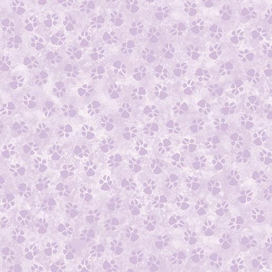 Benartex Paw Prints - Light Purple