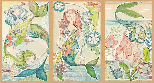 Blend Fabrics A Mermaid Tale Panel Mermaid Days