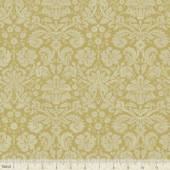 Blend Fabrics Flora & Fauna Somerset Damask Green