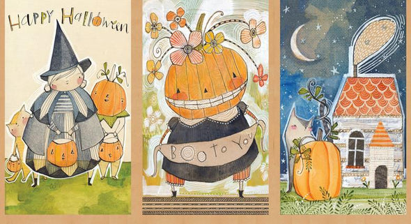 Blend Fabrics Spooky Town Happy Halloweeny Panel