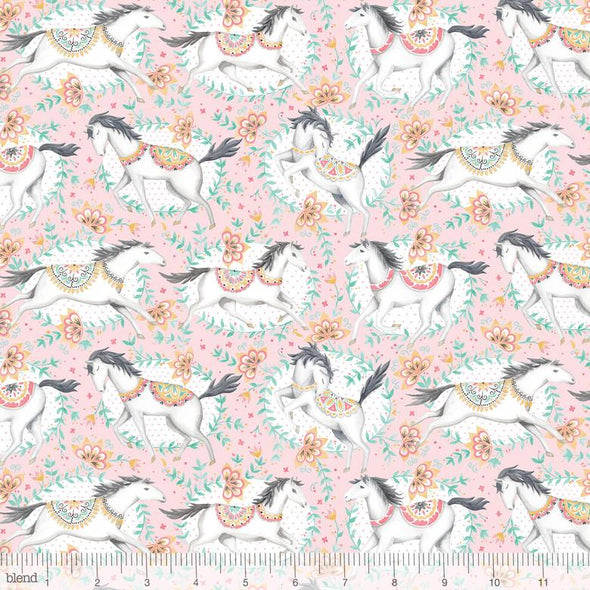 Blend Fabrics Hill & Dale Fillies Pink