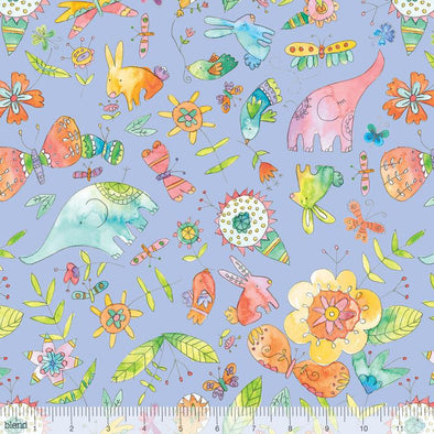 Blend Fabrics Waltz of Whimsy Love Big Periwinkle