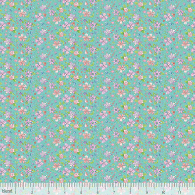 Blend Fabrics Waltz of Whimsy Ramble Turquoise