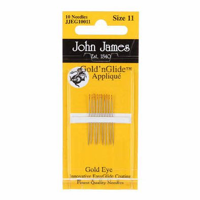Colonial Needle Co John James Gold'N Glide Applique Needles Sz 11