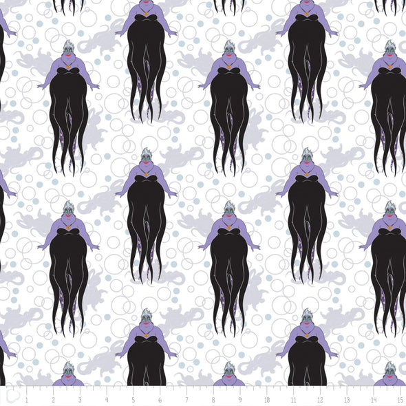 Camelot Fabrics Villains Ursula in White