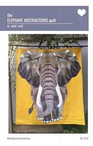 Violet Craft The Elephant Abstractions Quilt