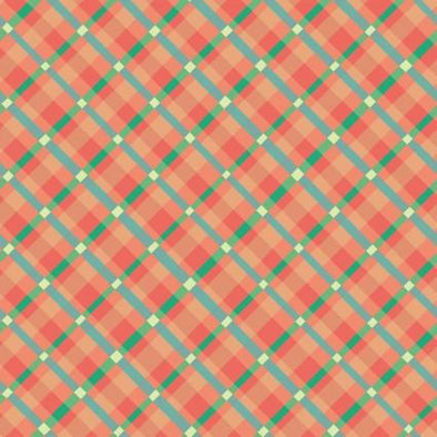 Clothworks Garden Works Plaids - Orange