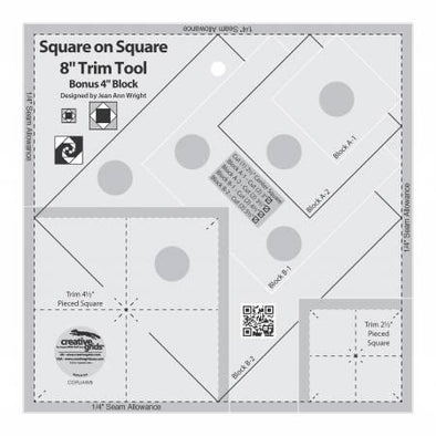 "Creative Grids Creative Grids Square on Square Trim Tool 4"" or 8"""