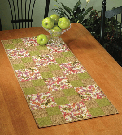 Dragonfly Fiberart Hopscotch Table Runner