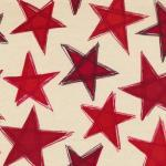 Fabri-Quilt Valor Red Stars on Cream