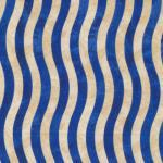 Fabri-Quilt Valor Wavy Stirpes Blue/Cream