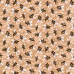 Fabri-Quilt You Bug Me Fly's on Beige
