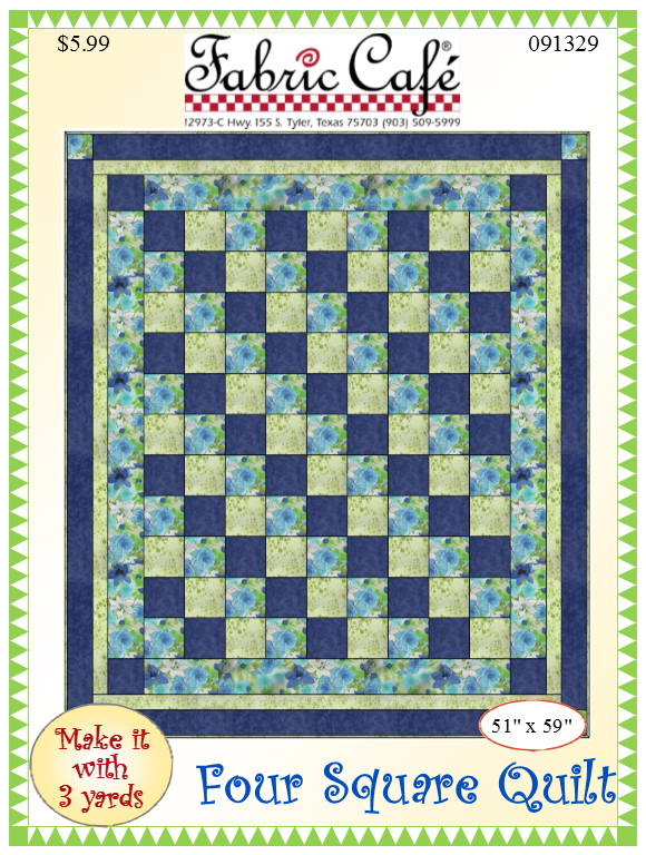 Fabric Cafe Four Square Quilt - Make it with 3 yards