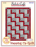 Fabric Cafe Stepping Up Quilt - Make it with 3 yards