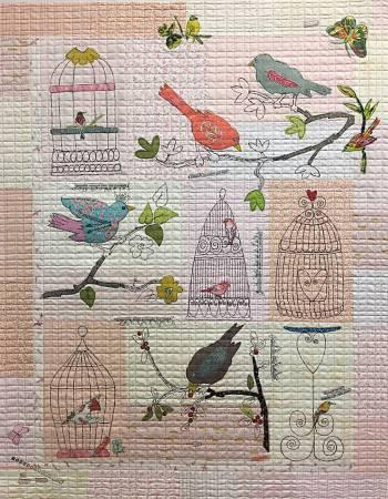 Fiberworks Laura Heine Chrip Chirp Collage Pattern