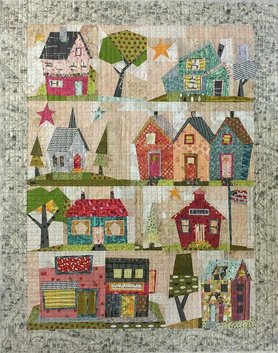 Fiberworks Laura Heine My Kinda Town Collage Pattern