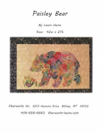 Fiberworks Laura Heine Paisley Bear Collage Pattern