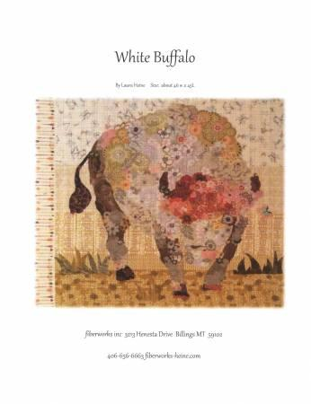 Fiberworks Laura Heine White Buffalo Collage Pattern