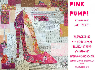 Fiberworks Laura Heine Pink Pump Collage Pattern