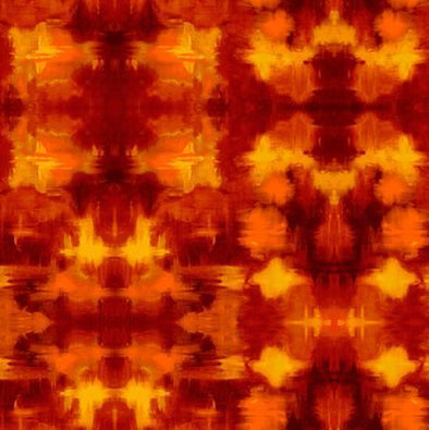 Freespirit Fabrics Garden Bright Sunset Terrace Digital Print