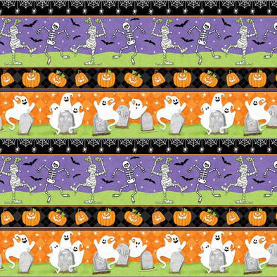 Henry Glass & Co Ghostly Glow Town - Novelty Print