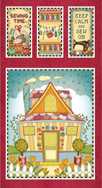 Henry Glass & Co Quilted House Banner Panel