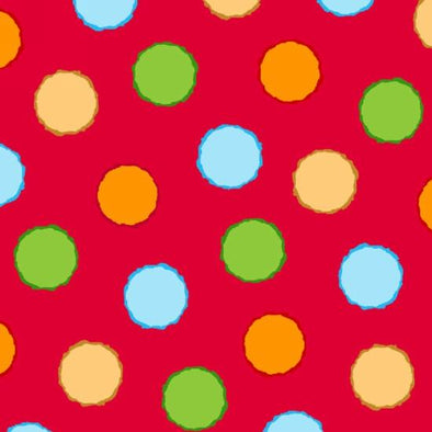 Henry Glass Fabrics ABC-123 Dots Red