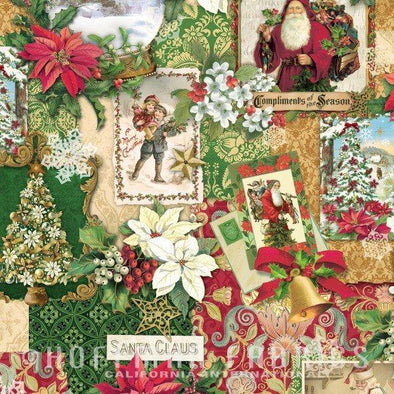 Hoffman Fabrics Enchanted Ornaments Vintage Wallpaper