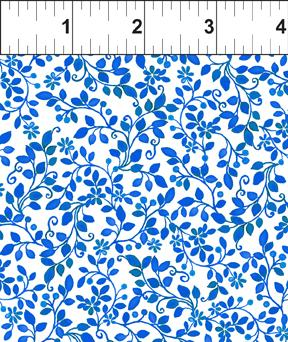 In The Beginning Fabrics Brianna Sprigs Royal/White