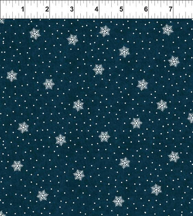 In The Beginning Fabrics Peaceful Holiday Snowfall Navy