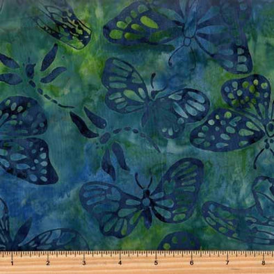 In The Beginning FloragraphixBatik 3 Butterflies Blue