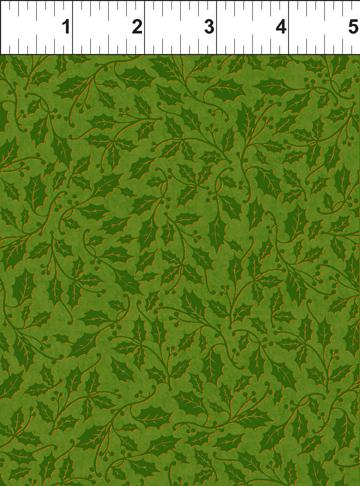 In The Beginning Fabrics Holly Green Peaceful Holiday