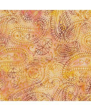 Island Batik - Paisley Outlining - Sunset